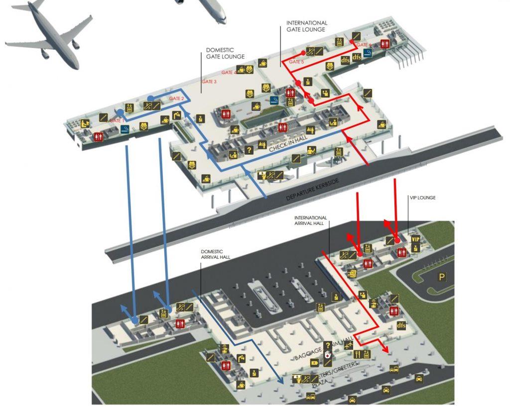 Cat Bi airport terminal maps